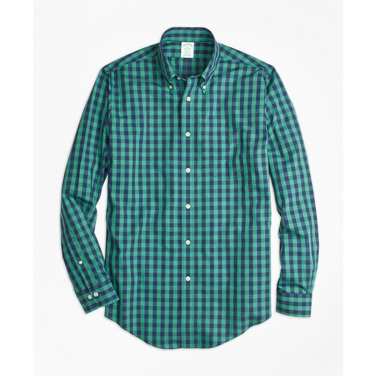 Brooks Brothers綠色棋盤格紋襯衫,3,990元。圖/Brooks ...