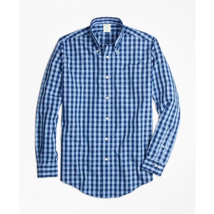 Brooks Brothers藍色棋盤格紋襯衫,3,990元。圖/Brooks ...
