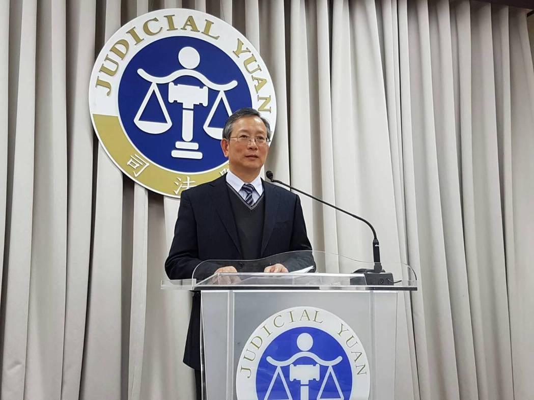 司法院秘書長呂太郎。記者林志函/攝影