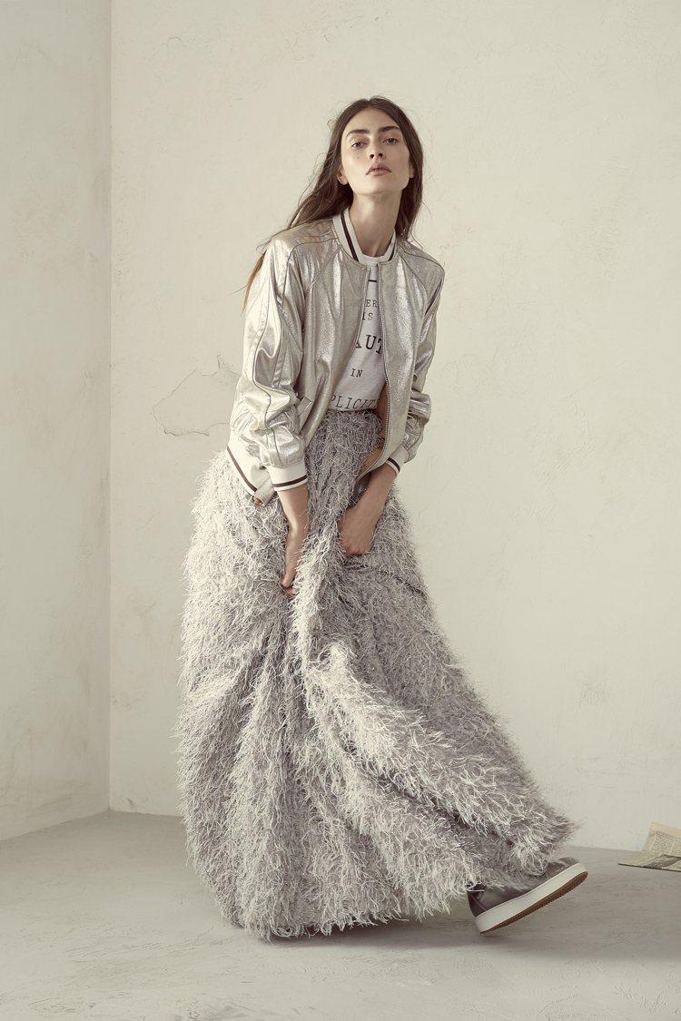 將運動風穿出奢華品味是BRUNELLO CUCINELLI的女裝風格。圖/BRU...