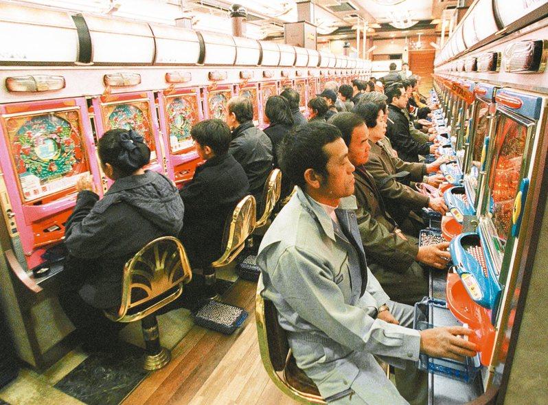 日本柏青哥店示意圖。美聯社