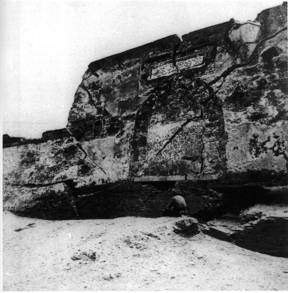 19世紀外國人看到的熱蘭遮城遺址。圖/國立臺灣歷史博物館蒐藏品