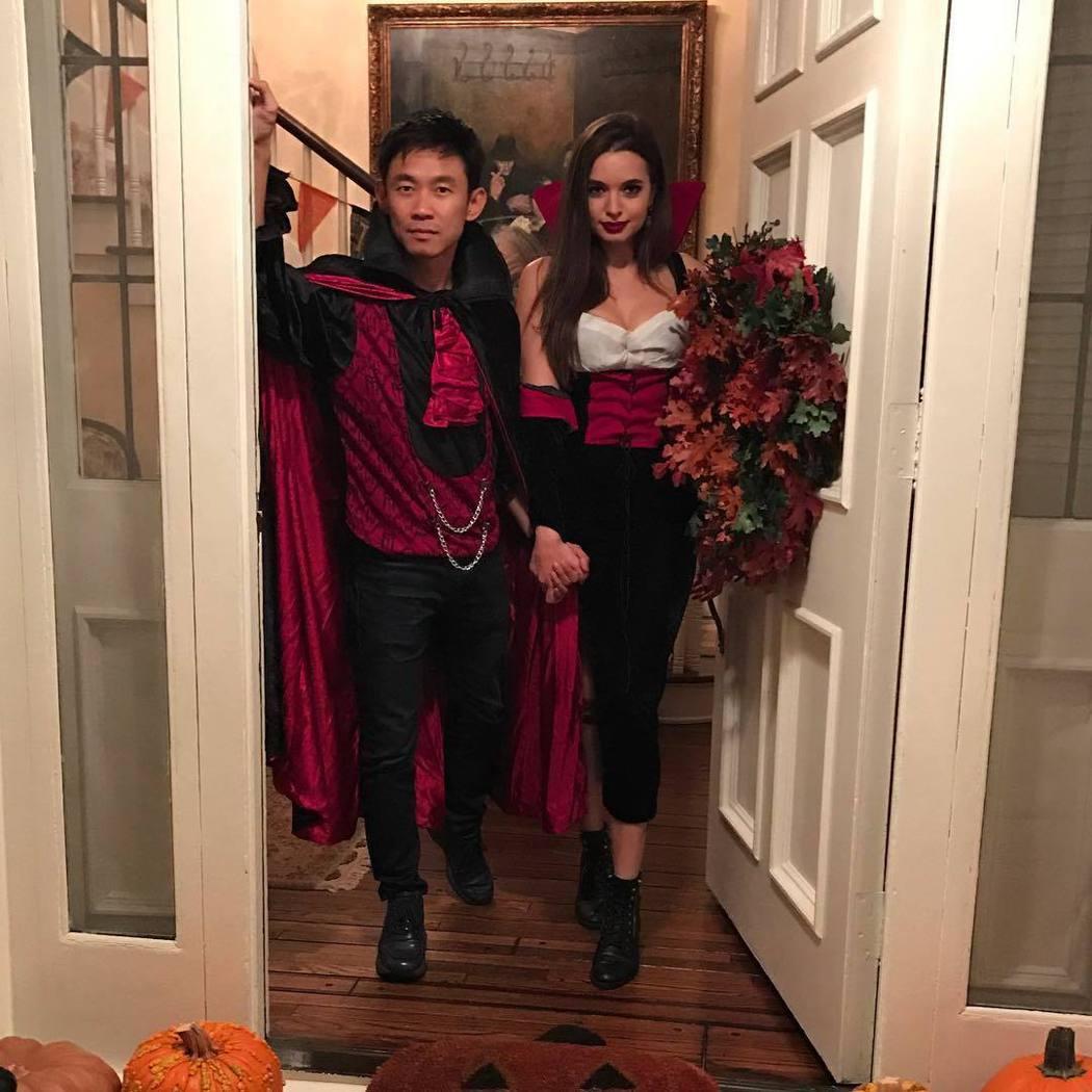 溫子仁與英格麗畢蘇萬聖節一起扮裝。圖/摘自Instagram