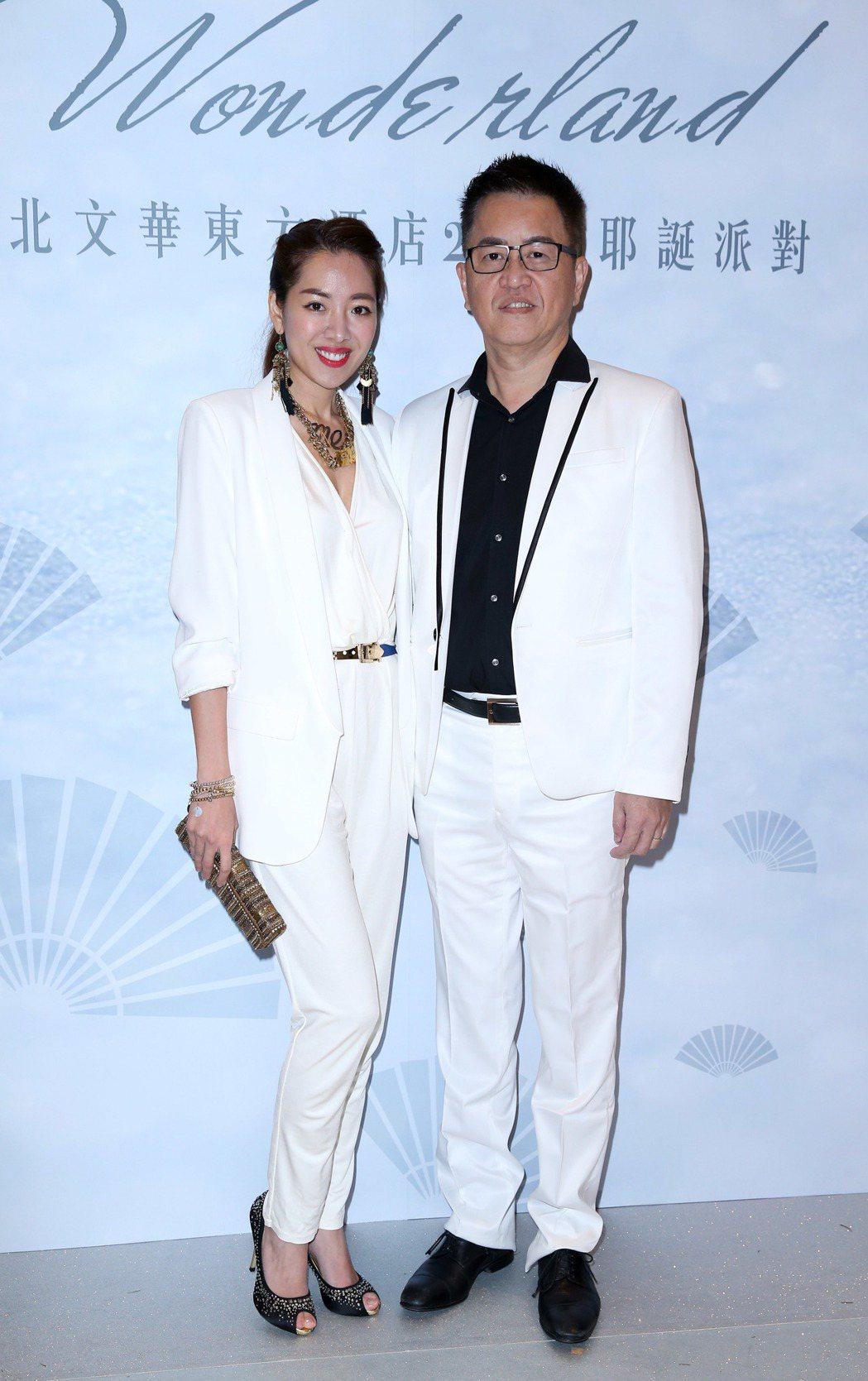 劉伊心(左)與未婚夫林志隆。 圖/聯合報系資料照
