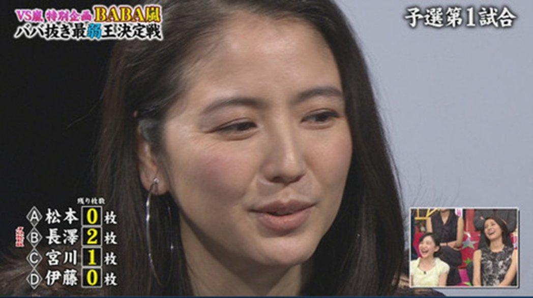 29歲長澤雅美去年10月來台時還美豔動人,昨上節目卻老20歲,成大媽樣。圖/摘自...