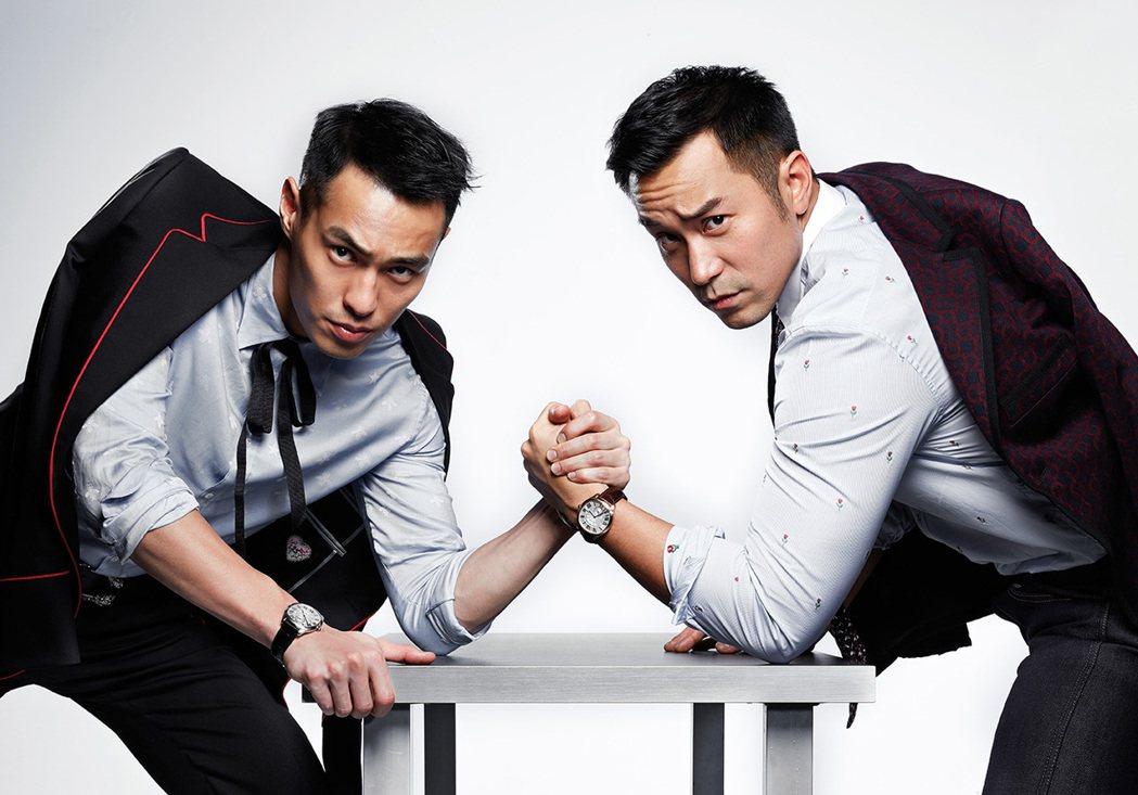 張孝全(右)、楊祐寧哥倆好。圖/GQ提供