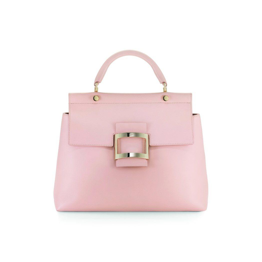 VIV' CABAS粉膚色款,售價122,000元。圖/Roger Vivier...
