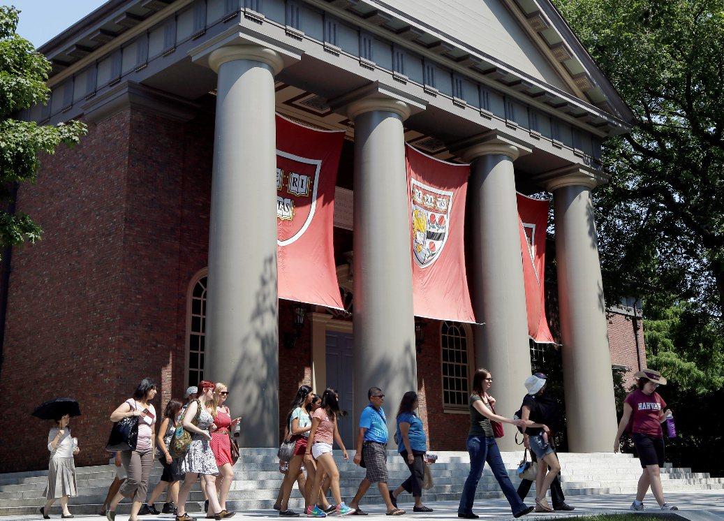 哈佛大學。 美聯社