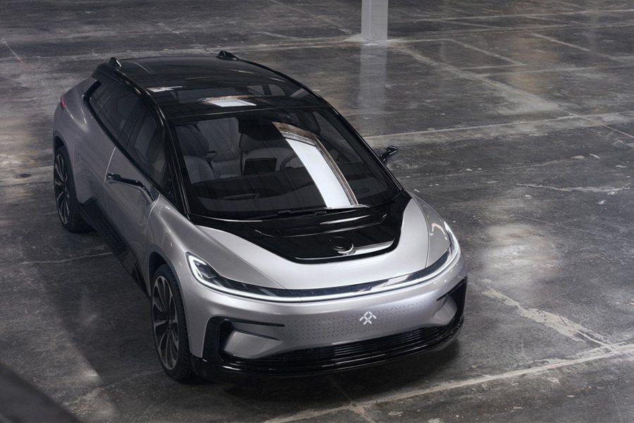 Faraday Future展示了「超快」純電動車FF91。 Faraday F...