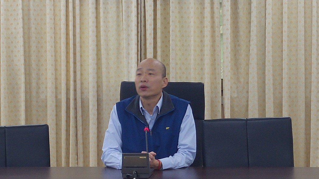 台北農產公司總經理韓國瑜。記者莊琇閔/攝影