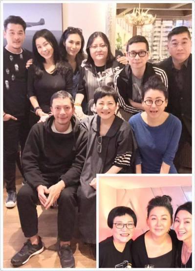 陳美鳳(後左二)臉書感謝張小燕、藍心湄、邱瓈寬與薛聖棻的多年陪伴與提攜。圖/摘自