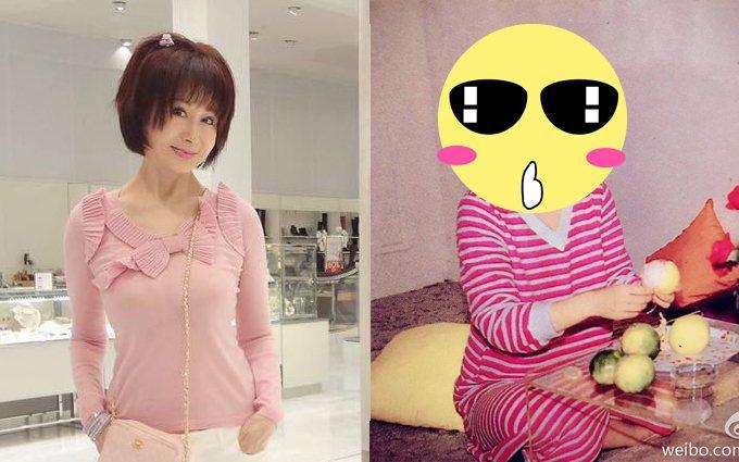 潘迎紫秀出昔日的少女照片。圖/取自於微博