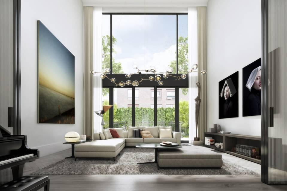 前電視主持人比利布希的紐約市連棟屋豪宅,已經賣出。這是這棟豪宅的示意圖。(ODA...