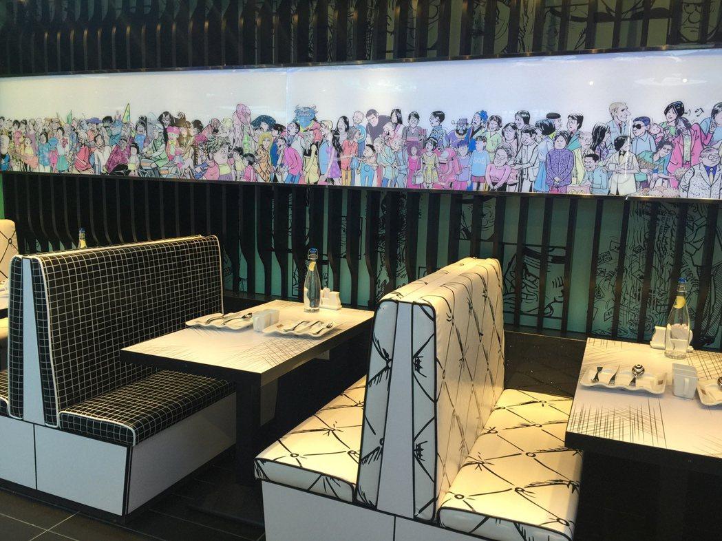 餐館內,處處可見老夫子的形象。圖/香港旅遊發展局提供