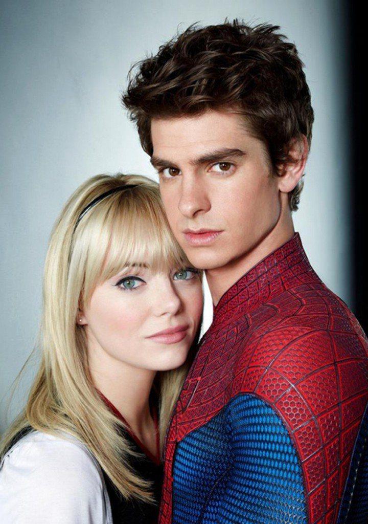 安德魯加菲與艾瑪史東因合作「蜘蛛人:驚奇再起」片集假戲真作,開始交往。圖/摘自i...