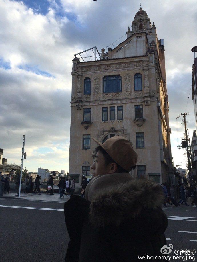 伊能靜帶兒子哈利赴京都旅遊。圖/摘自伊能靜微博