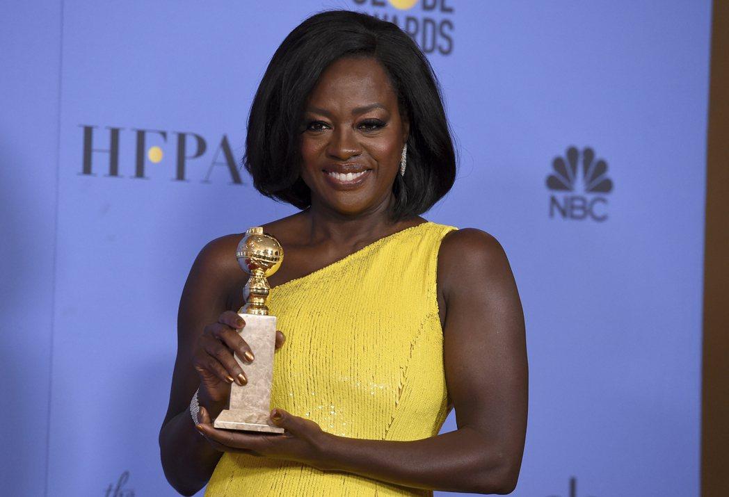 薇拉戴維斯獲金球獎電影類最佳女配角。圖/美聯社