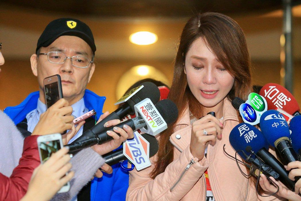 海倫清桃與戴先生(左)出面坦承自己謊話連篇。記者林伯東/攝影