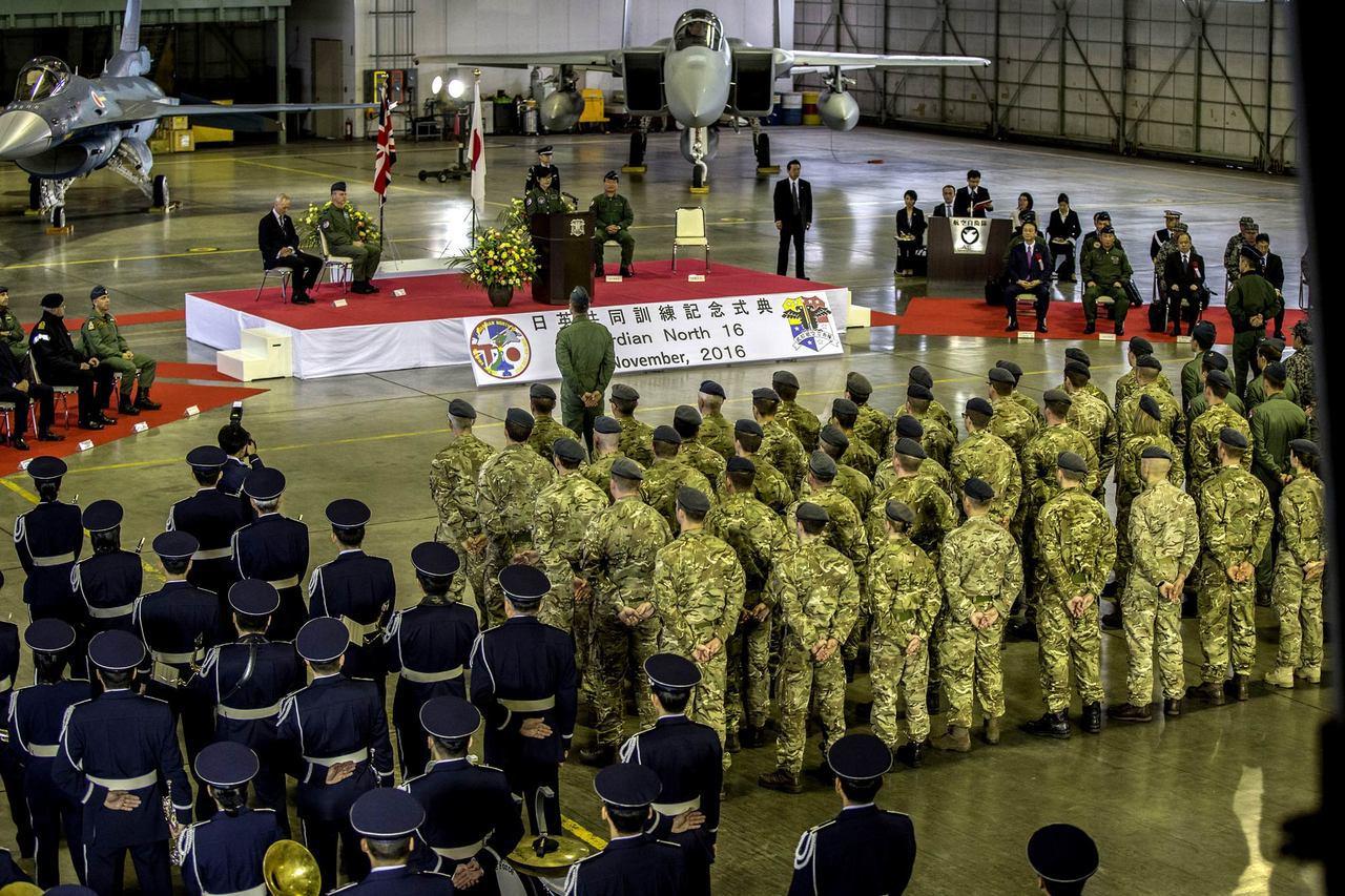 代號「北方守衛者16」的演習,是英國空軍戰機自冷戰結束以後,首度飛入日本。 圖/...