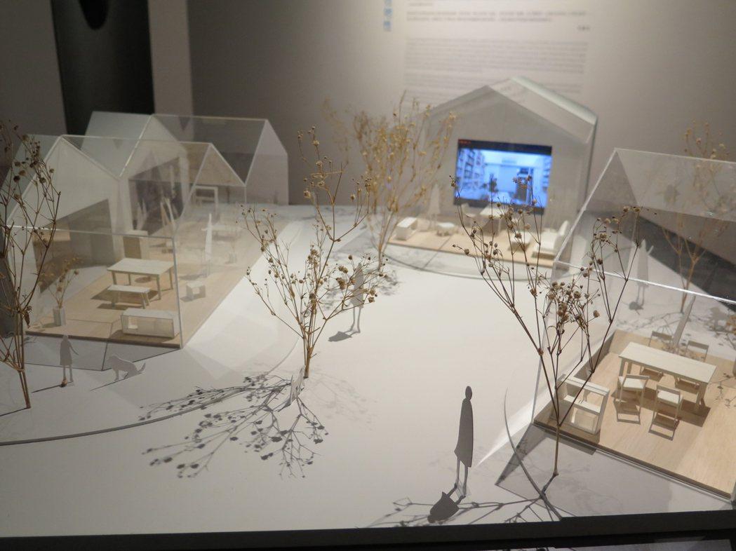 建築師趙元鴻設計的陪伴之家,讓人們透過電訊設備不孤單。記者何定照/攝影
