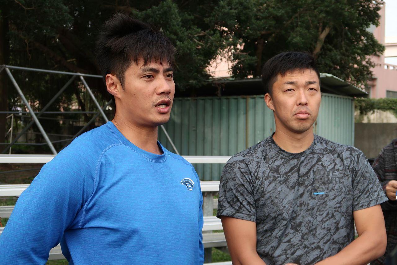 外傳中日龍隊希望透過陳偉殷(左)的加入,刺激吉見一起(右)找回過往身手。 聯合報...
