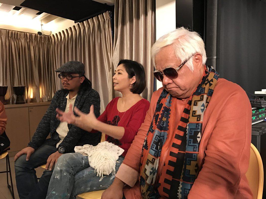 毛恩足發片,林曉培、胡德夫助陣。記者陳于嬙/攝影