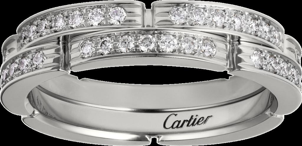 卡地亞Maillon Panthère 系列白K金鑽石戒指,約17萬3,000元...