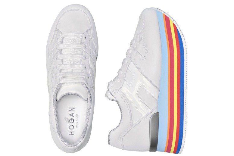 MAXI H222彩虹鞋底繫帶休閒鞋,售價23,600元。圖/HOGAN提供