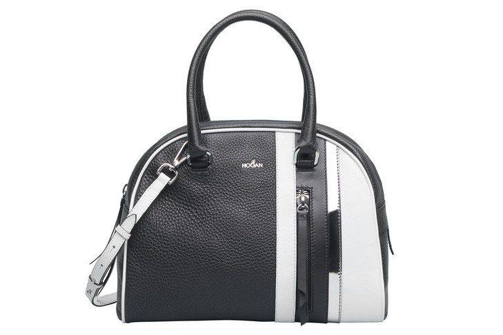 黑白拼色手提包,未定價。圖/HOGAN提供