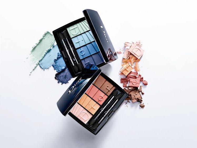 迪奧盛彩春色眼妝盤#001湖水漸層、#002珊瑚漸層,售價皆為2,350元。圖/...