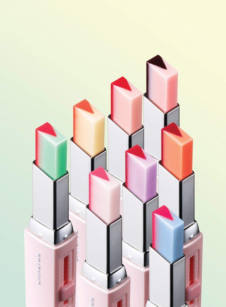 LANEIGE蘭芝超放電晶潤雙色唇膏,售價850元,共8色。圖/蘭芝提供