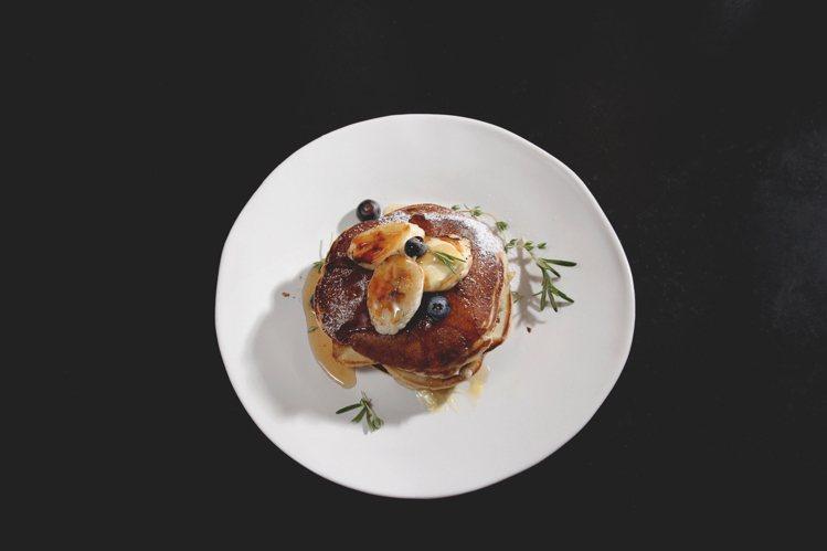 限定甜點 – Pancake(藍莓口味)。圖/Dears Waffle & Ca...