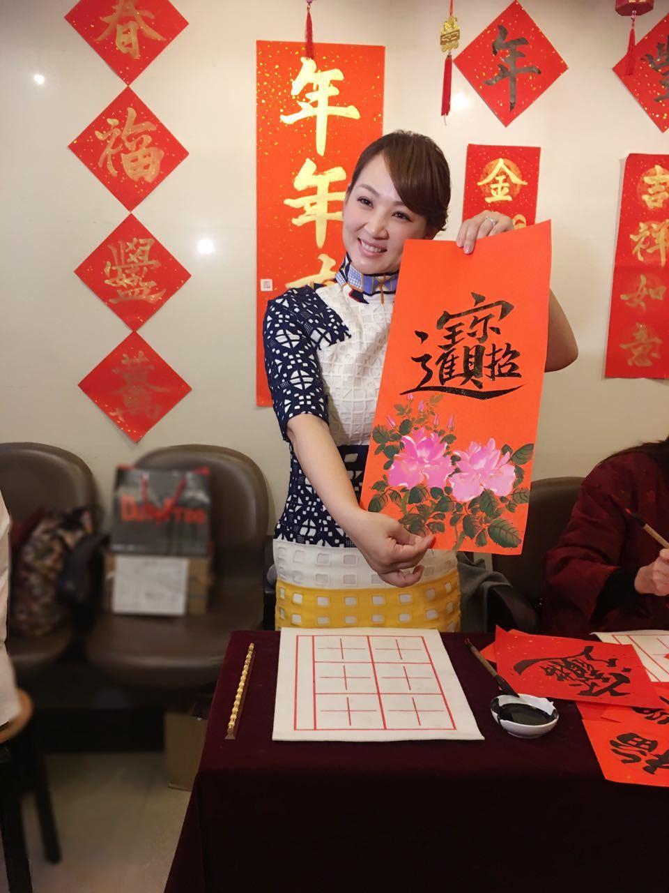 郁方的書法定期送日本鑑定,目前是5級。圖/郁方提供