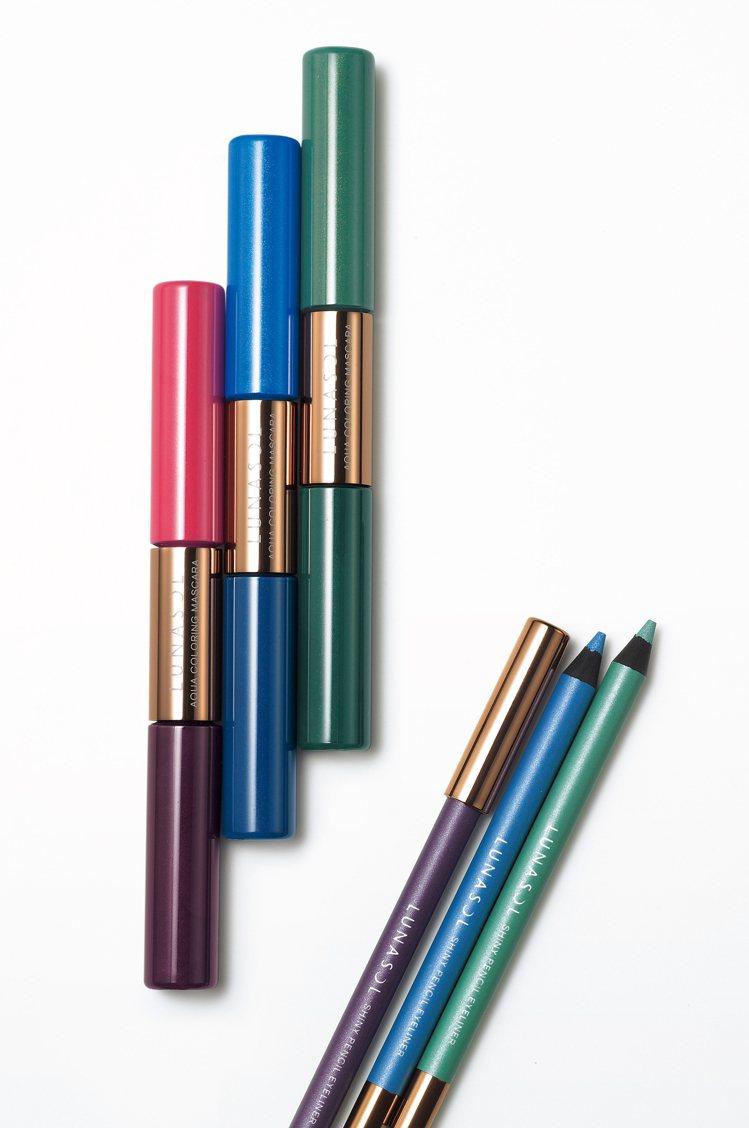 佳麗寶LUNASOL水光灩采睫毛膏、晶巧輝透眼線筆的色彩繽紛明亮,讓眼妝更有朝氣...