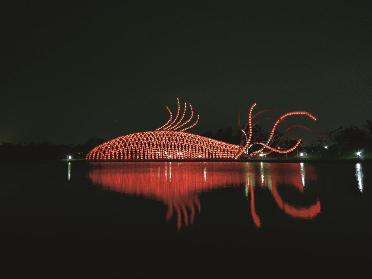 宜蘭傳藝中心打造全台最長的燈籠隧道「魚耀隧道」。圖/全聯善美的文化藝術基金會提供