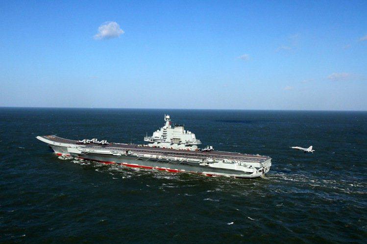 中共遼寧艦。 圖:新華社