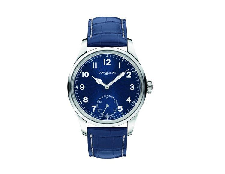 萬寶龍1858系列小秒針腕錶,NT$109,300。圖/萬寶龍提供