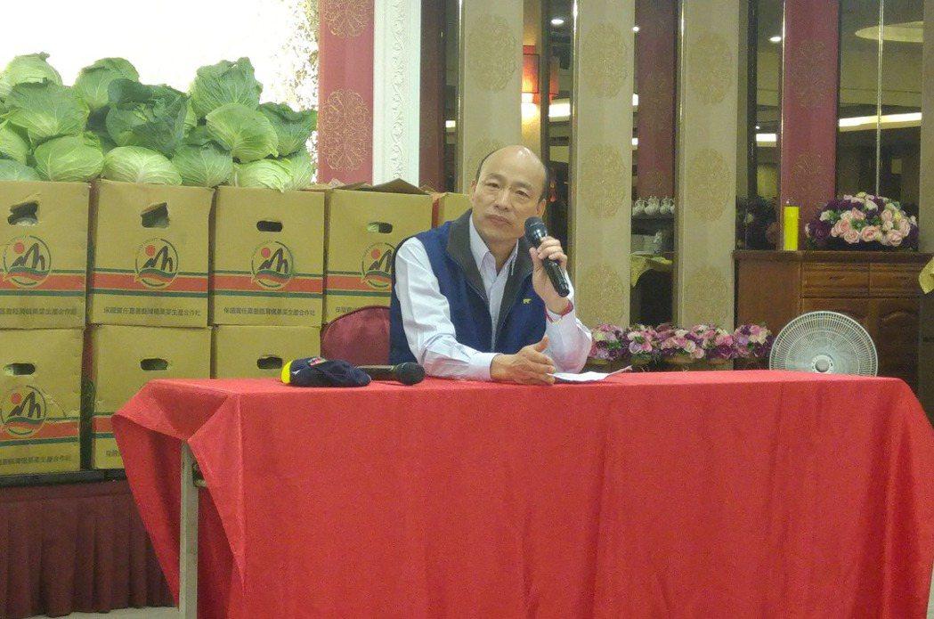 台北農產公司總經理韓國瑜今早宣布參選國民黨主席。記者莊琇閔/攝影