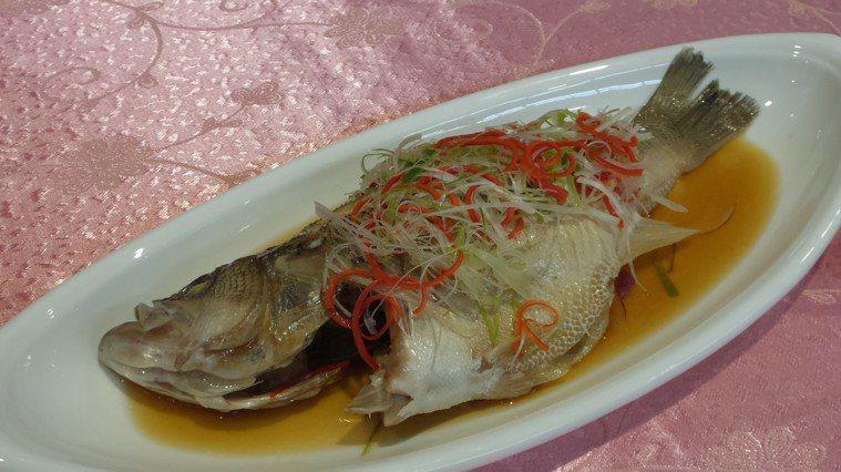 清蒸鱸魚。記者卜敏正/攝影