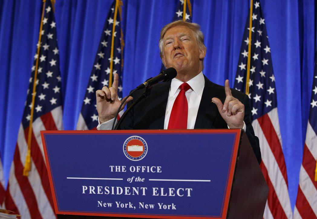 美國總統當選人川普。 圖/美聯社