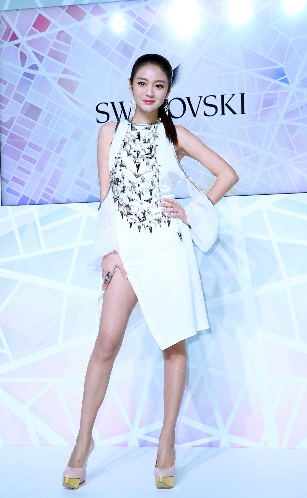 安以軒返台參加 SWAROVSKI新品發表會。記者陳瑞源/攝影
