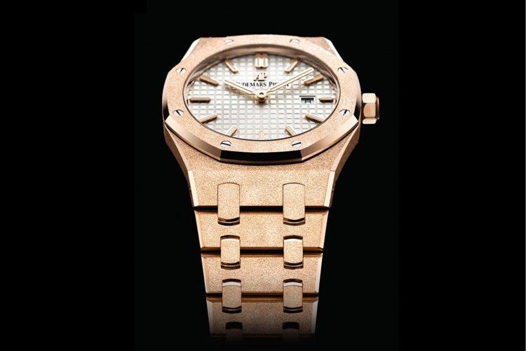 愛彼皇家橡樹系列霜金腕表,價格未定。圖/Audemars Piguet提供