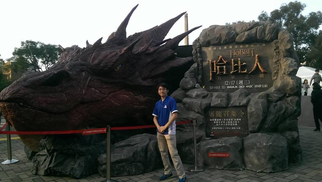 熱愛電玩的聶寶這幾年都在台北電玩展擔任工讀生。