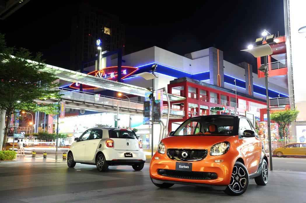 smart定義全新都會用車,相較2015全年銷售成長高達123%。 圖/台灣賓士...