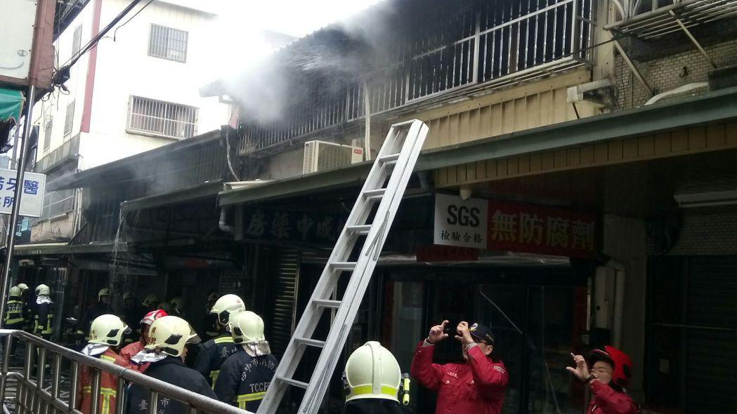台中后里今早發生火災案件,疑似為廚房用火不慎所致。圖/台中市消防局提供