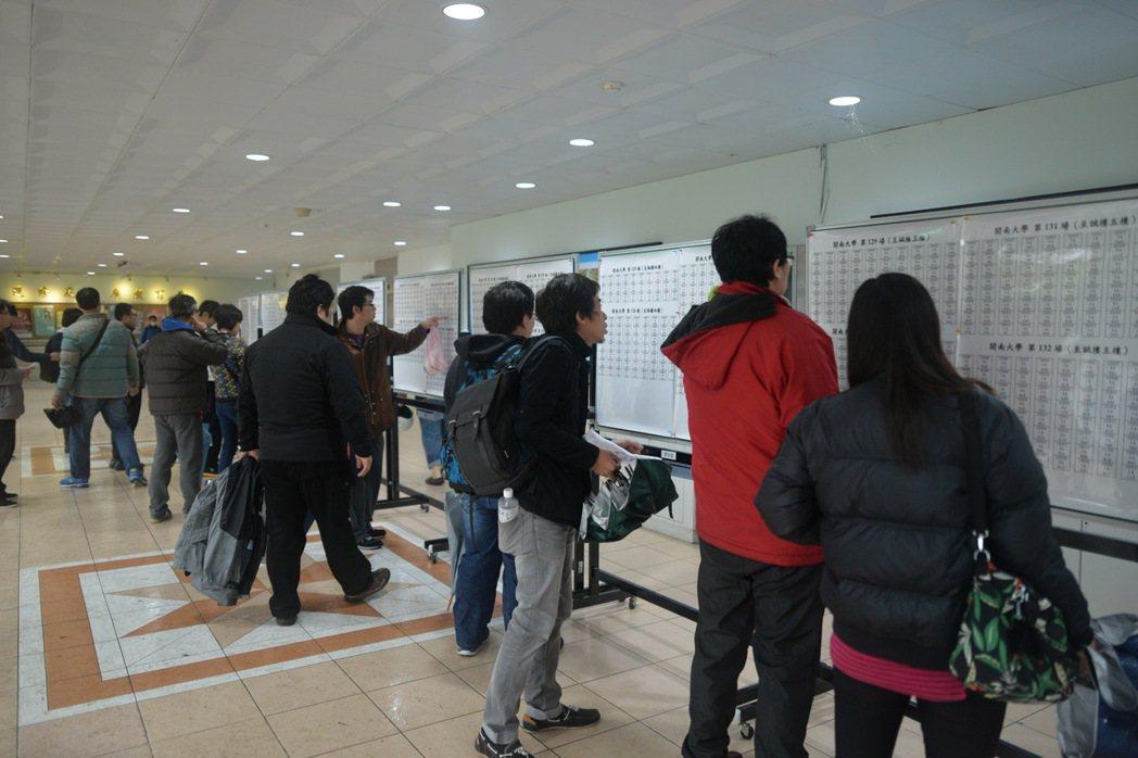 開南大學今舉行桃園大眾捷運公司招考新進人員第一階段筆試。圖/開南大學提供