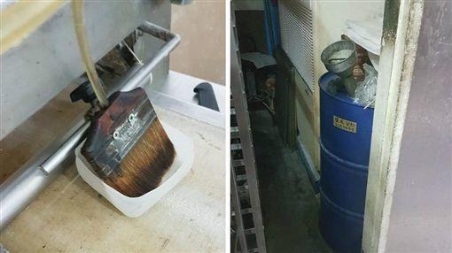 珍典食品遭員工爆料以機械潤滑油直接塗抹包子,昨遭食藥署勒令停業。圖/翻攝自爆料公...