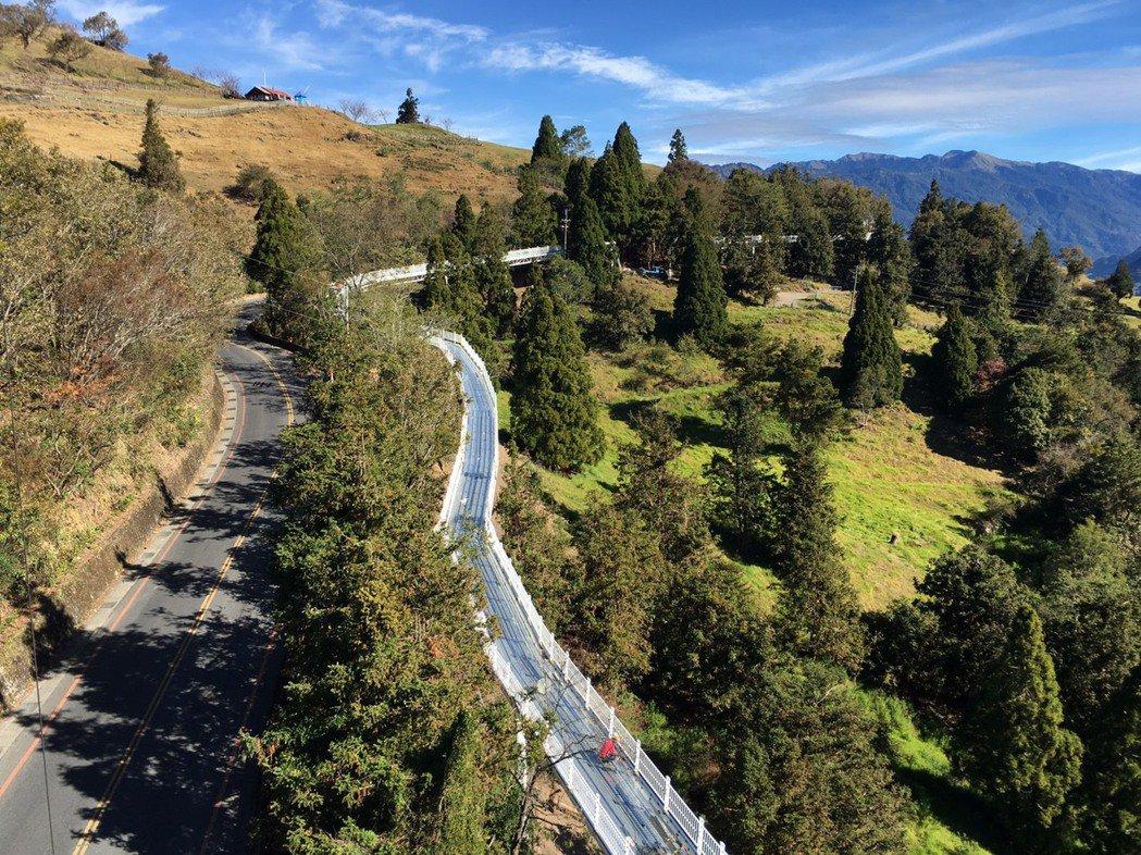 清境高架景觀步道系統是全台第一座無障礙高山高架步道。圖/南投縣政府提供