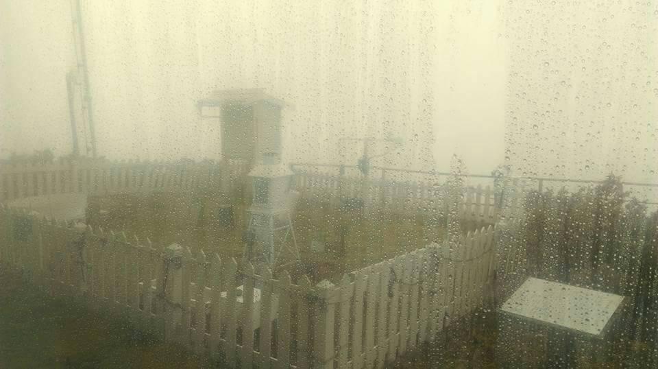 大陸冷氣團襲台但今天上午低溫不夠,下午則是低溫但水氣不夠而未下雪。圖/中央氣象局...