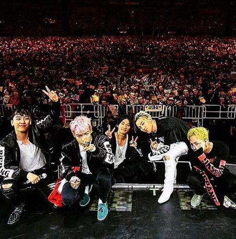 BIGBANG在去年底密集?进?出道10周年?外巡回演唱会。图/摘自GD IG